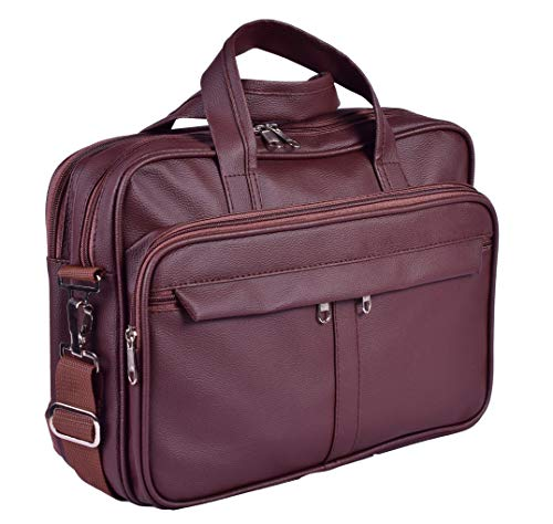 ayushicreationa Professional Vegan Leather Executive Formal Office Laptop Messenger Sling Bag for Men Women