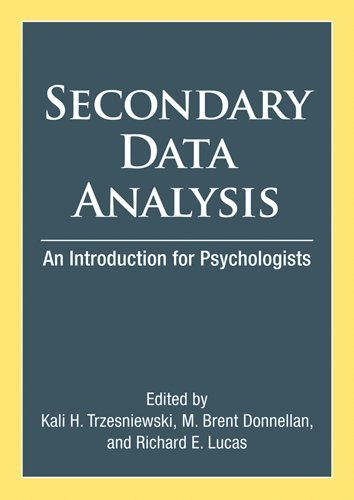 Secondary Data Analysis: An Introduction for Psychologists PDF