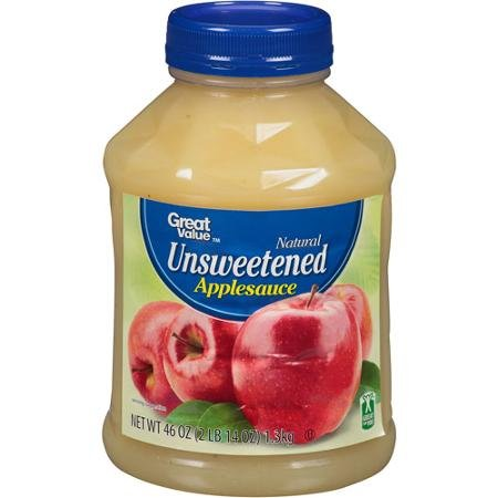 Great Value Natural Unsweetened Applesauce, 46 oz by Great Value (Image #1)
