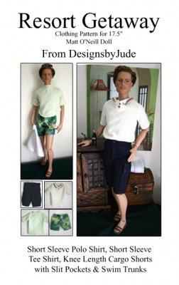 17 Inch Classic Doll Fashions - Resort Getaway Pattern for 17