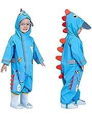 TURMIN 3D söt pöldräkt för flickor barn vattentät regnrock med huva regn poncho baby lerig kostym med reflekterande rand småbarn regnkläder med transparent hattbrätte