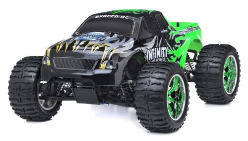 (PLRB 1/10 2.4Ghz Exceed RC Infinitve Nitro Gas Powered RTR Off Road Monster 4WD Truck Sava GreenSTARTER KIT REQUIRED AND SOLD)