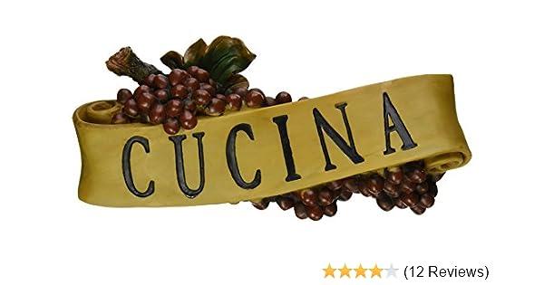 4 Italian Plaques Cucina Mangia Salute /& Bon Appetito by Design Toscano