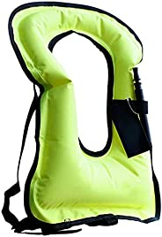 Inflatable Swim Vests Portable Float Buoyancy Aid Snorkeling Safety Jackets Fluorescent Green