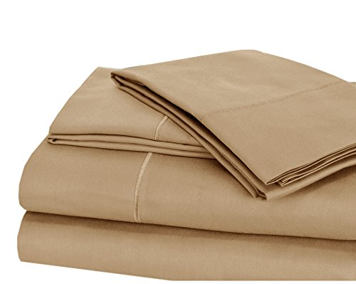 - CHATEAU HOME COLLECTION Luxury 100% Pima Cotton 500 Thread Count Ultra Soft Solid Sheet Set, Lowest Prices - Mega Sale, Queen - Taupe