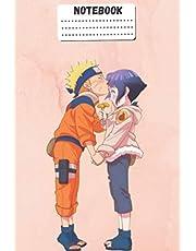 HINATA COMPOSITION Notebook: Naruto Manga HINATA SAKURA Kakashi Hatake sharingan Itashi Sasuke Obito Soft Glossy Cover College Ruled Lined Pages Book for Boys 6 x 9 Inches 100 Pages