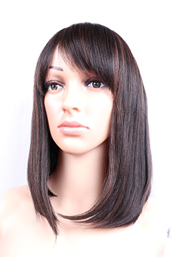 Fani Short Bob Wigs Natural Hair Yaki Straight Wig With Free Wig Cap Cosplay Wigs For Women Color 4/30