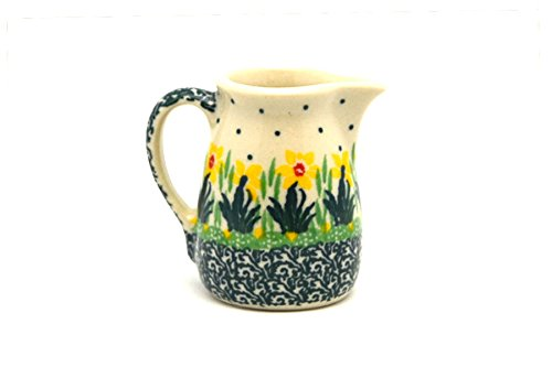 - Polish Pottery Miniature Pitcher - Daffodil