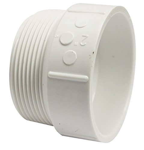 Pvc Adapter 2 - Canplas 192872 PVC DWV Male Adapter, 2-Inch, White