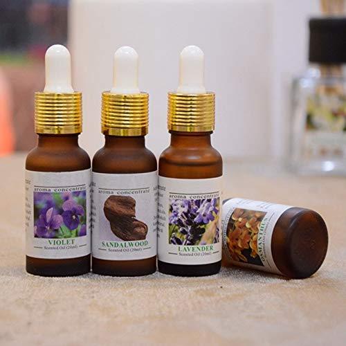 Ambientador de aceite esencial para coche, aromaterapia, humidificador, aceites de perfume de aire fresco, 20 ml, Jazmín