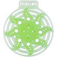 "Diversey power screen 30 Day Premium Anti-Splash Urinal Screen and Deodorizer - Fits Most Top Urinal Brands, 8"" x 7"" Green/Apple (10 Pack)"