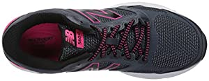 New Balance Women's W560v7 Cushioning Running Shoe, Grey/Black, 8.5 D US