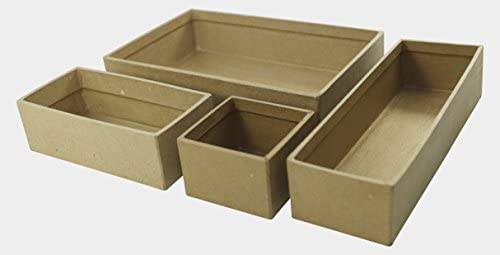 Decopatch – Caja para Decorar (tamaño pequeño, Papel maché ...