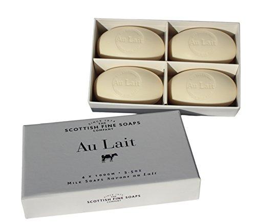 The Scottish Fine Soaps Company Au Lait Milk Soaps (4 x 100g)
