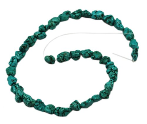 10 Mm Nugget Beads - New 10mm Turquoise Nugget Fashion Bead Strand (16 Inch)