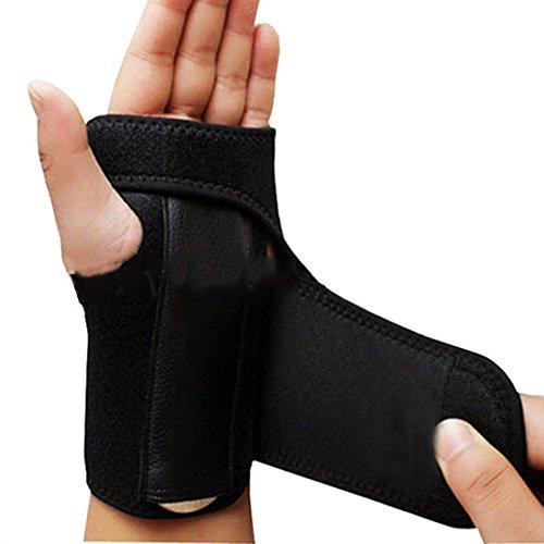 Wrist Fracture Splint - Adjust Wristband Steel Wrist Brace Wrist Support Splint Fractures Carpal Tunnel Sport Sprain Mouse Hand Wristbands (Left)