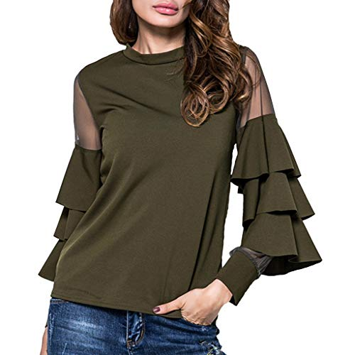 Witspace Women Tshirt Summer Fashion Solid T Shirt O-Neck Long Sleeve Shirts Top