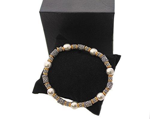 Genuine 925 Sterling Silver Bali Beads Stretch Bracelet Balinese Bead Bracelet