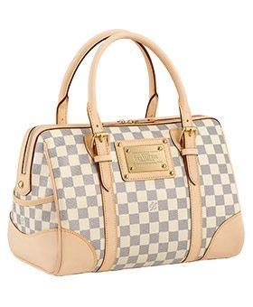 Image Unavailable. Image not available for. Colour  Louis Vuitton Damier  Azur Berkeley N52001 Hand Bag ... 1b8cd80e324fa