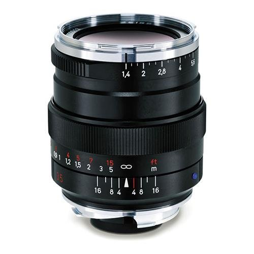 Zeiss 35mm 1.4 Distagon T ZM Lens for Zeiss Ikon and Leica M Mount Rangefinder Cameras - Black
