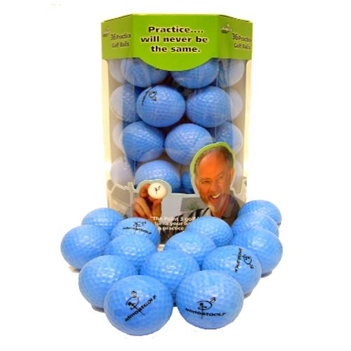 Almost Point3 36 Golf Balls (Restricted Flight) Blue Practice NEW by Almost