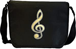 Music Notation Treble Clef - Sheet Music Document Bag Musik Notentasche...