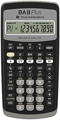 Financial Calculator Online >> Texas Instruments Ti Ba Ii Plus Financial Calculator Buy