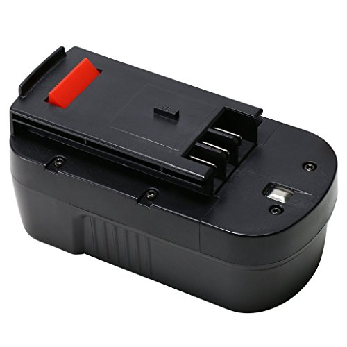 HPB18 18 Volt Black and Decker Battery Replacement for HPB18-OPE A1718 A18 A18NH 244760-00 FEB180S FS18FL FSB18 Firestorm Black & Decker Cordless Power Tools Slide-Pack Battery by REEXBON