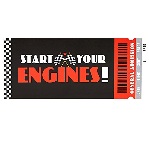 BirthdayExpress Racecar Racing Party Supplies Invitation (8) -