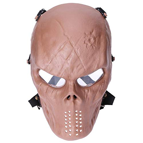 Masquerade Masks - Paintball Protection Cosplay Pc Lens Skull Full Face Mask Horror Scary Head Tease Party Masks - Kids Royal Stick Copper Prime Half Little Peacock Color Green Coral Decorate P ()