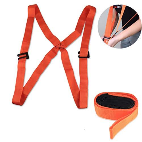 SANGAITIANFU Mobile Furniture Moving Belt with Adjustable Shoulder Lift Carrying and Moving Belt Orange for Lifting…