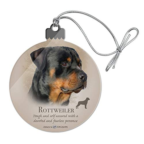 - GRAPHICS & MORE Rottweiler Rottie Dog Breed Acrylic Christmas Tree Holiday Ornament