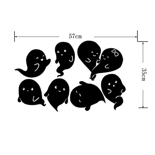 Bowake Happy Halloween Wall Decals Halloween Wall sticers, Removable Wall Sticker Mural Decor Decal (C)