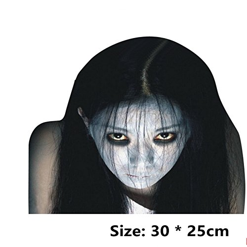 Aoxsen Reflective Car Sticker Decal Waterproof 3D Emblem Auto Truck Front Windshield Banner Scary Horror Ghost Styling Window Internal External Side Personalized Car Decoration