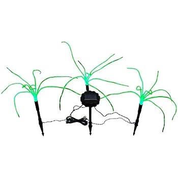 wild grass solar garden lights 3 sprigs of green grass 12 foot tall