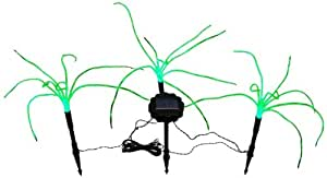 Wild Grass Solar Garden Lights. 3 Sprigs of Green Grass, 1.2 foot Tall