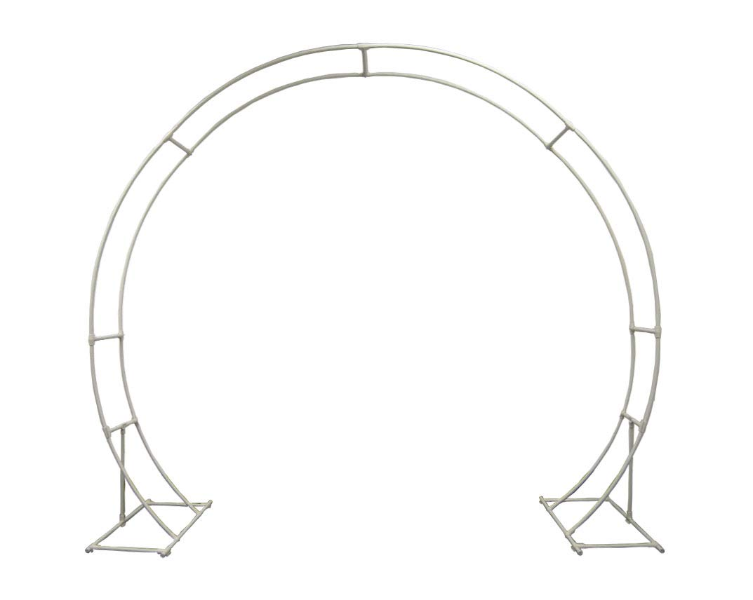 Evershine Metal Arbor Wedding Arch for Wedding Party Bridal Prom Garden Floral Decoration Both Indoor and Out Door. 9ft Height x 8ft Wide