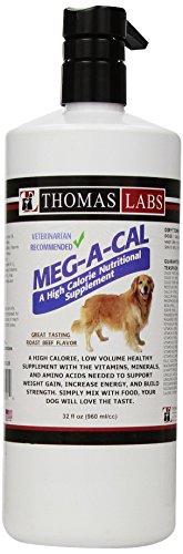 Thomas Laboratories Meg-A-Cal Pet Health Care Supply, 32 Fluid Ounce (Low Cal Dog Food)