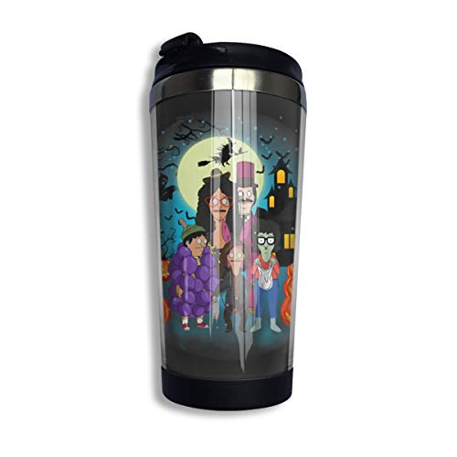 Vacuum Water Bottle Cup for Coffee & Tea, Outdoor Tumbler Mug with One Hand Operation Action Lid, Bobs Burgers Pumpkin Halloween Fanart Stainless Steel Insulated 14 ()
