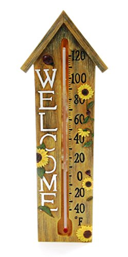Springfield Welcome Poly Resin Thermometer