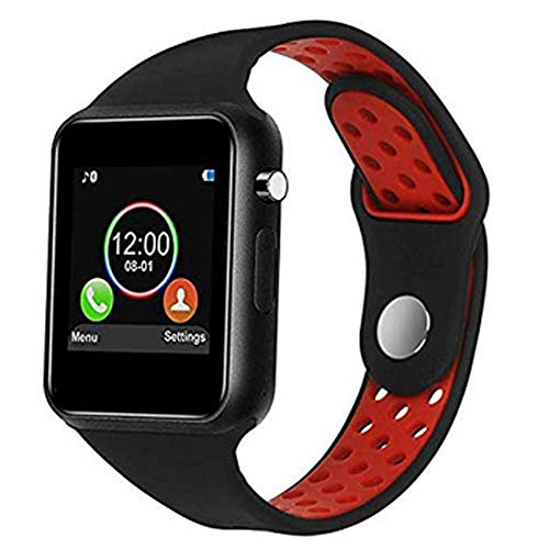 IOQSOF Smart Watch, Bluetooth Touchscreen Smart Wrist Watch Smartwatch Phone Fitness Tracker with SIM SD Card Slot Camera Pedometer Compatible iOS iPhone Android Samsung