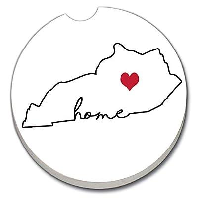 CounterArt Absorbent Stoneware Car Coaster, Love Kentucky-Home