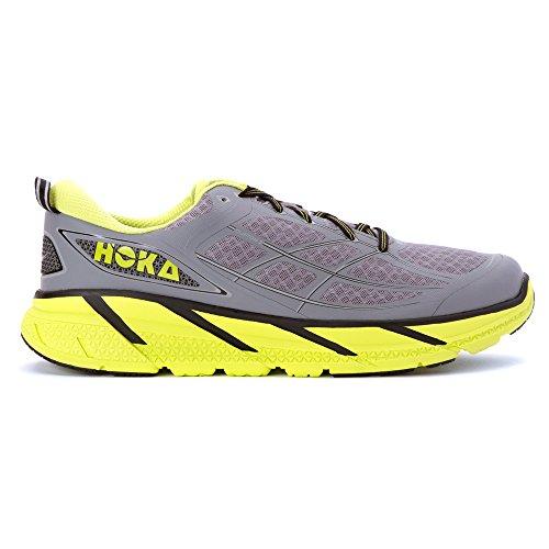 HOKA Clifton 2 Hombre Zapatillas Para Correr - Verde/Amarillo, 30 EU