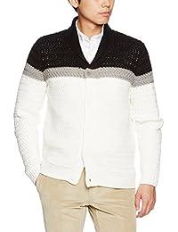 Men's Color Block Large Knit Cardigan