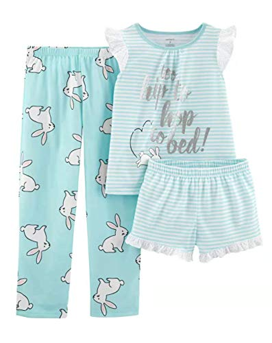 Bunny Clothes For Girls (Carter's Girls' 3-Piece Poly (Turquoise/Bunny,)