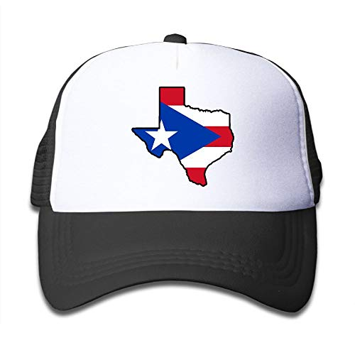 Puerto Rico Flag Texas Map On Kids Trucker Hat, Youth Toddler Mesh Hats Baseball Cap