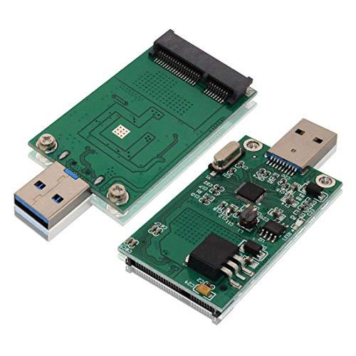 mSATA SSD Adapter to USB 3.0, Tanbin Mini SATA Use as Portable Flash Drive/External Hard Drive, 50mm Mini PCIe Solid State Drive Reader Converter