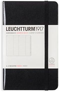 [Gesponsert]LEUCHTTURM1917 316927 Adressbuch Pocket (A6), Hardcover, Schwarz