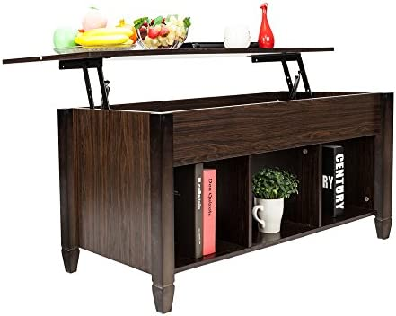 home, kitchen, furniture, living room furniture, tables,  coffee tables 3 image HomVent Lift-up Top Coffee Table,Wood & Metal promotion