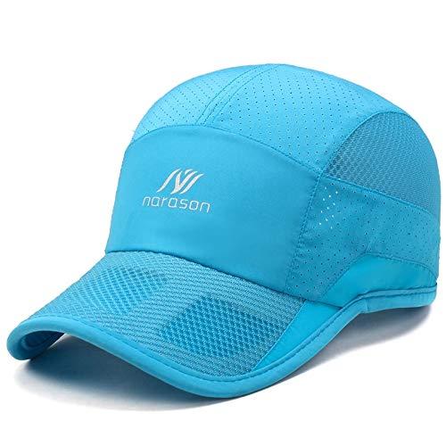 (quick-drying breathable sports cap hat cap men man summer sun cap outdoor base women girls slim riding (4622- sky blue)